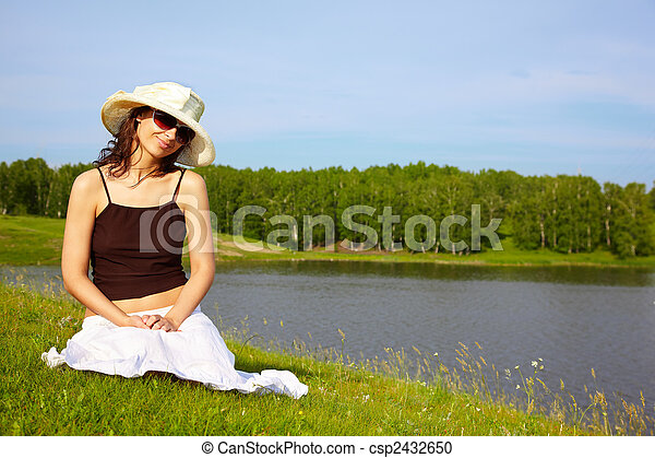 Girl in Nature - csp2432650