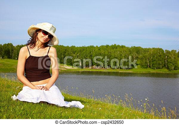 Girl in Nature - csp2432650