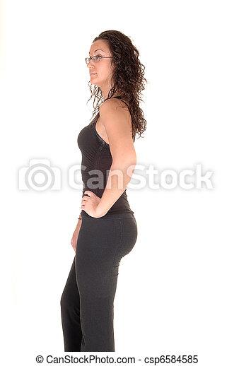 Girl in profile. - csp6584585