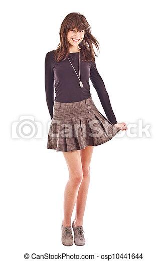 Girl with skirt image Girl In Short Skirt Girl In Skirt Isolated On White Background Canstock