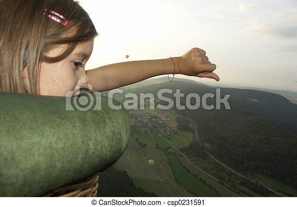 girl in the balloon - csp0231591
