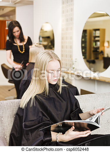 Girl in the Beauty Spa - csp6052448