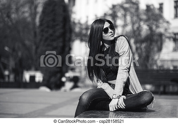 girl in the city - csp28158521