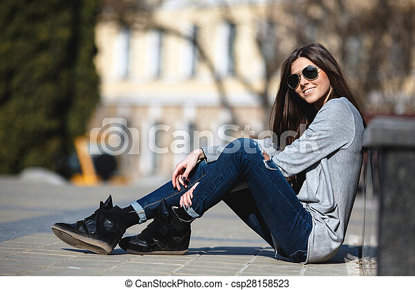 girl in the city - csp28158523