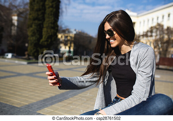 girl in the city - csp28761502