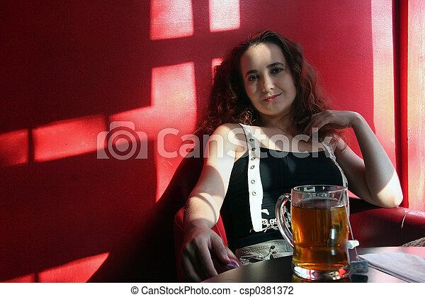 Girl in the corner - csp0381372