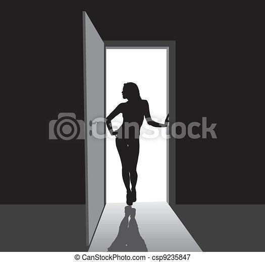 Girl in the door - csp9235847