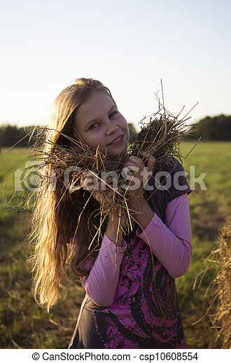 Girl in the field - csp10608554