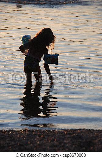girl in the lake - csp8670000