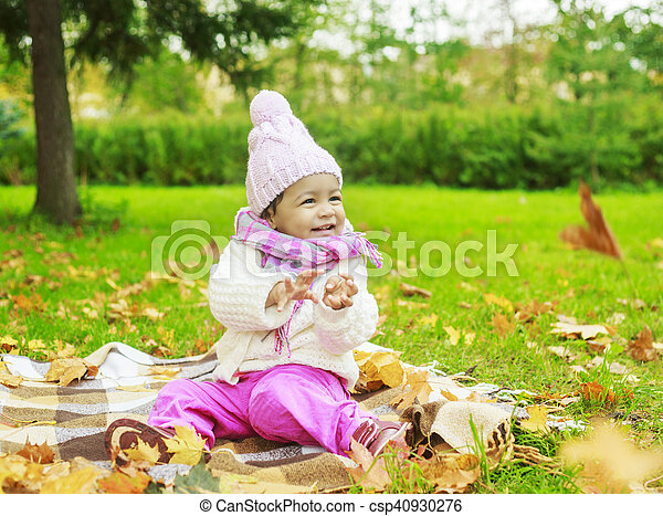 girl in the park - csp40930276