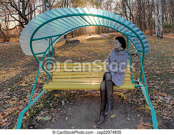 girl in the park - csp22974835