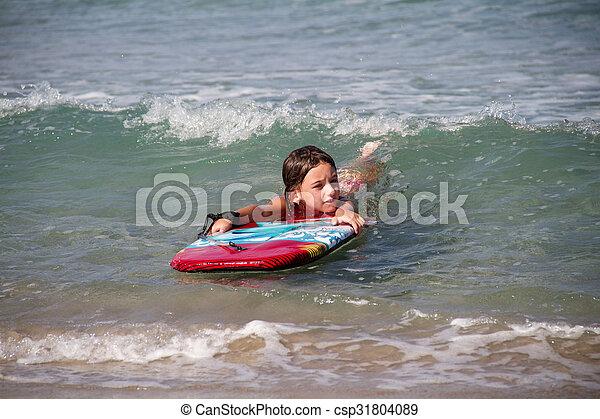 girl in the sea - csp31804089