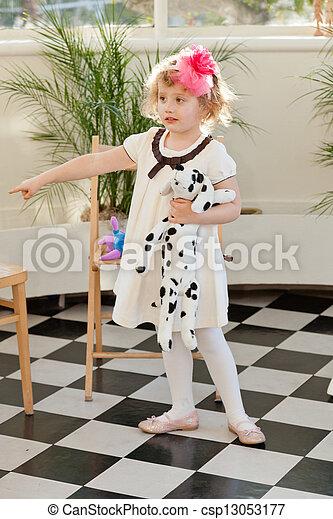 Girl in white dress - csp13053177