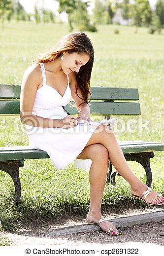 Girl in white dress - csp2691322