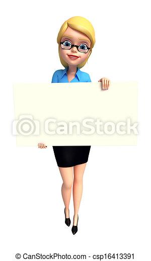girl, jeune, signe - csp16413391