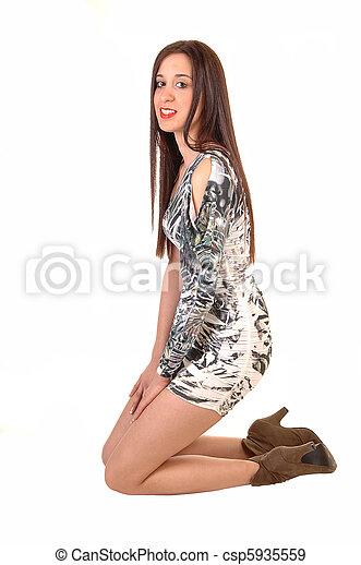 Woman kneeling sexy photos 47