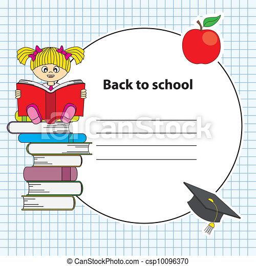 girl lezen, boek - csp10096370