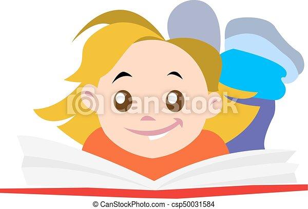 girl lezen, boek - csp50031584