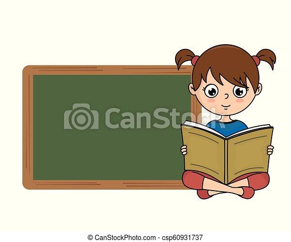 girl lezen, boek - csp60931737