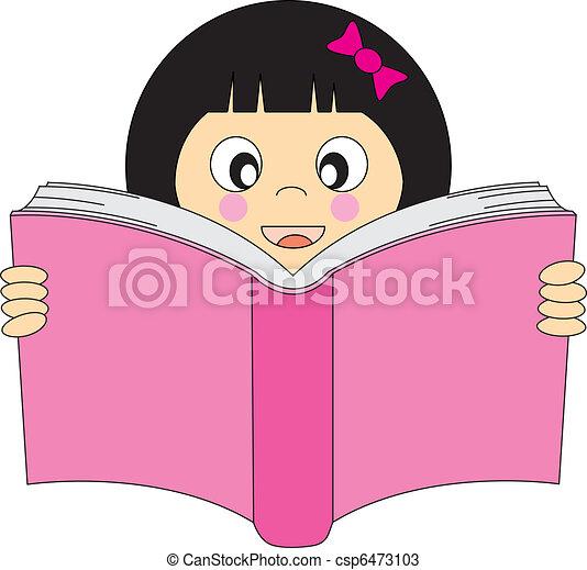 girl lezen, boek - csp6473103