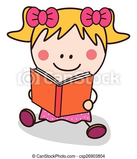 girl lezen, boek - csp26903804