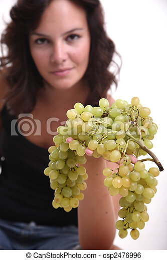 Girl Offering Grapes