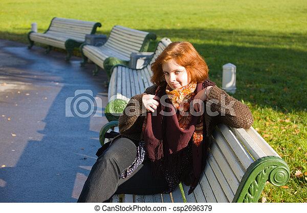 girl on a bench - csp2696379