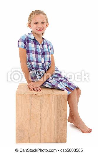 Girl on a Box - csp5003585