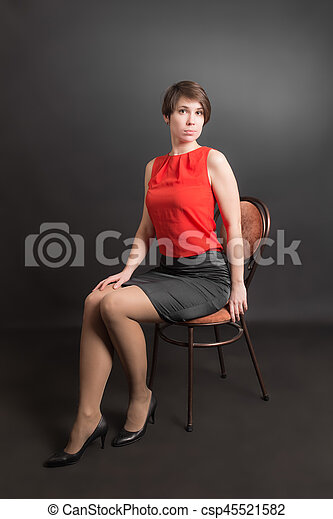 girl on a chair - csp45521582