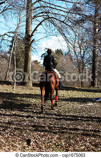 girl on a horse - csp1675063