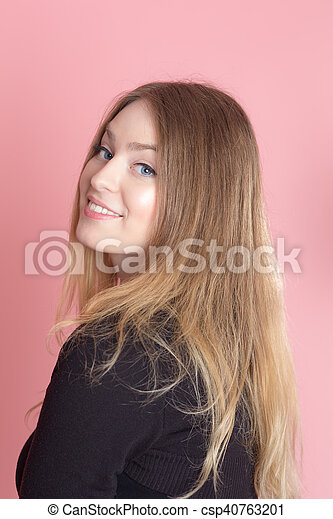 girl on a pink background - csp40763201