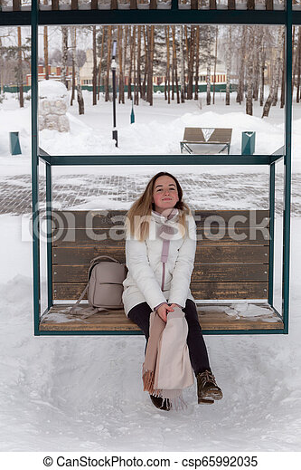 girl on a swing - csp65992035