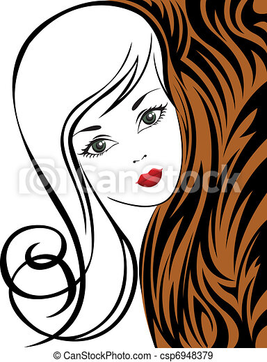 Girl on a tiger background - csp6948379
