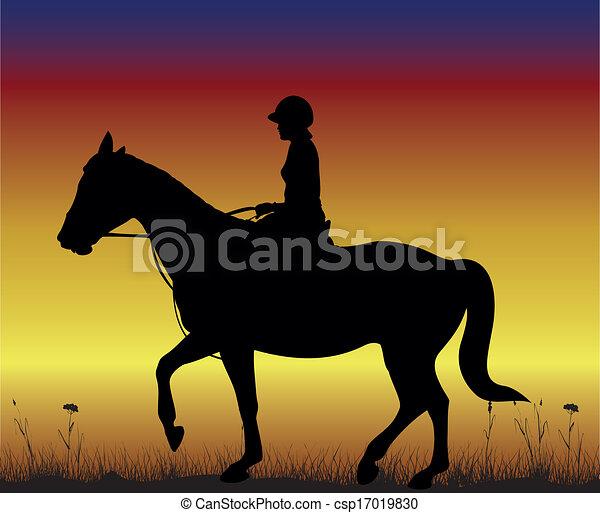 girl on horseback - csp17019830