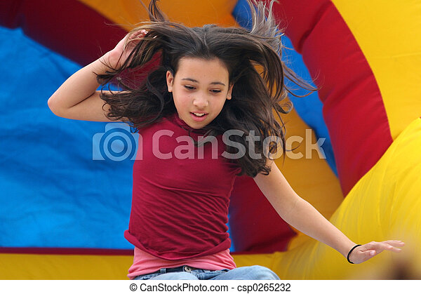 Girl on playground - csp0265232