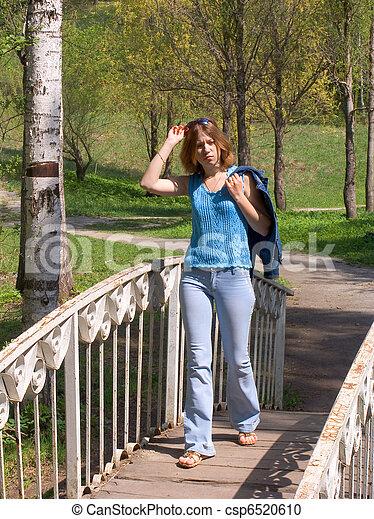 Girl on the bridge - csp6520610