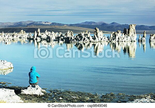 Girl on the lake - csp9849046
