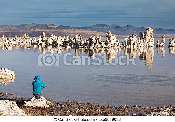 Girl on the lake - csp9849033