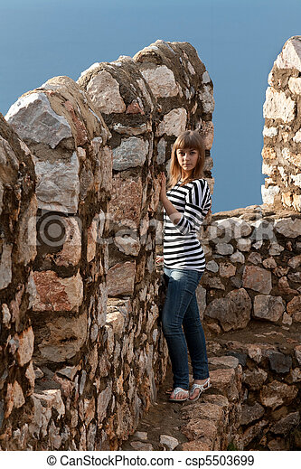girl on the wall - csp5503699