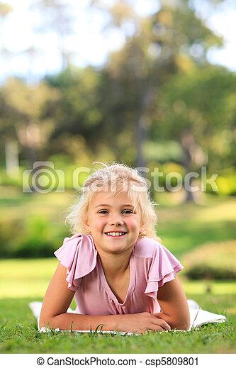 girl, parc, peu - csp5809801