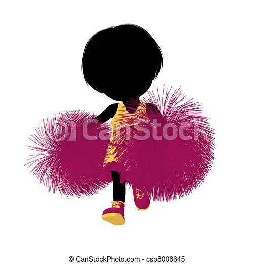 girl, peu, silhouette, acclamation, illustration - csp8006645
