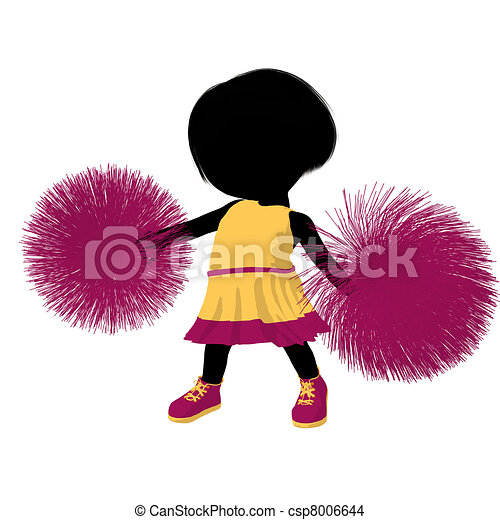 girl, peu, silhouette, acclamation, illustration - csp8006644