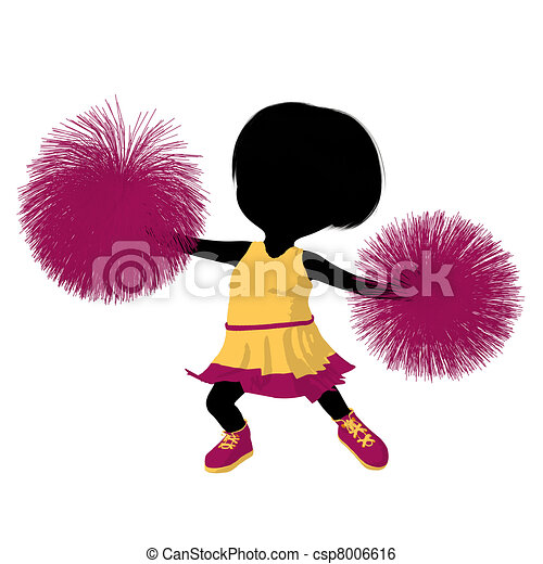 girl, peu, silhouette, acclamation, illustration - csp8006616
