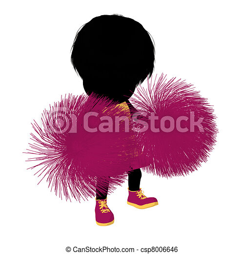 girl, peu, silhouette, acclamation, illustration - csp8006646
