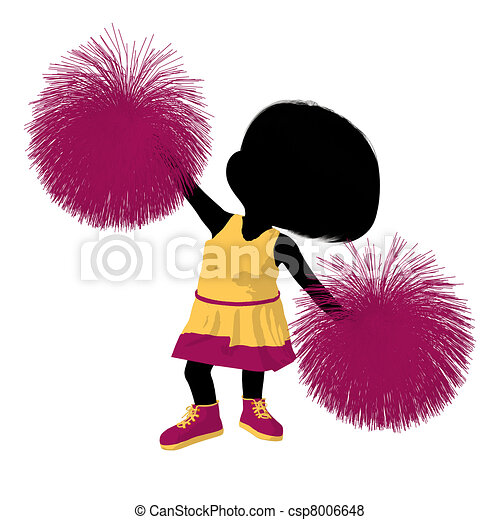 girl, peu, silhouette, acclamation, illustration - csp8006648