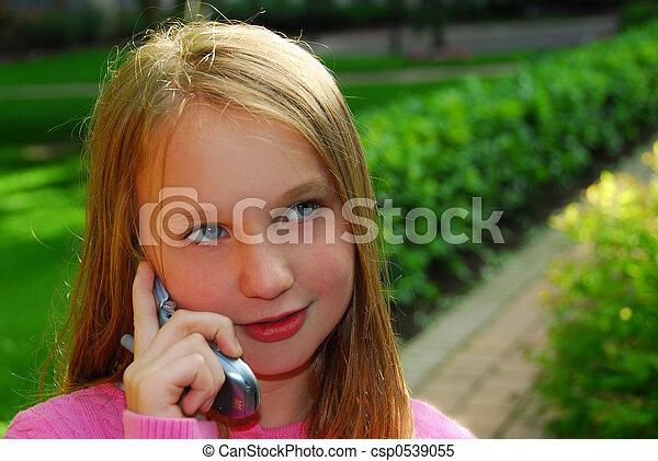 Girl phone - csp0539055