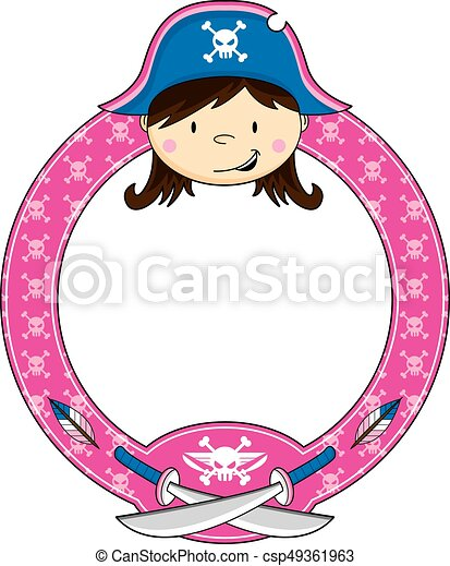 girl pirate captain cute cartoon pirate captain with swords clip rh canstockphoto com free cute pirate clipart cute pirate girl clipart
