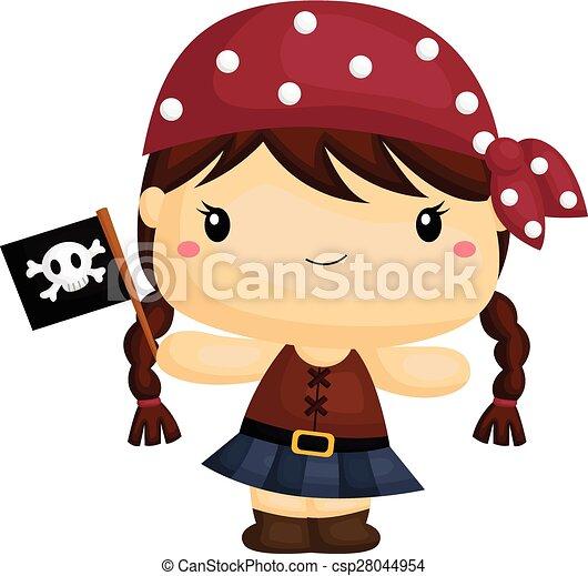 girl pirate rh canstockphoto com Pirate Border Pirate Border