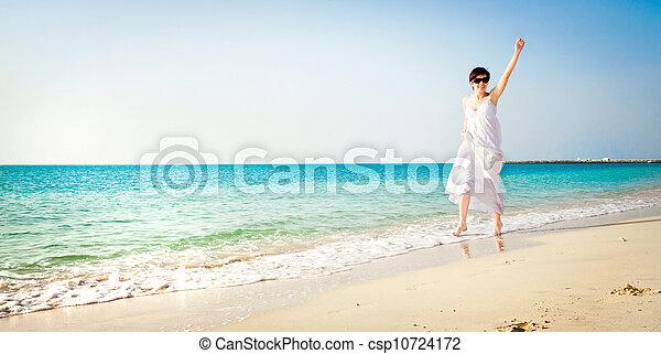 girl, plage - csp10724172