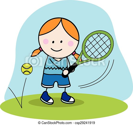 girl playing badminton vector clip art search illustration rh canstockphoto com badminton clipart cute badminton clipart free